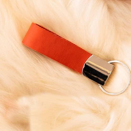 Sleutelhanger oranje - personaliseerbaar