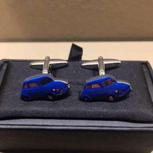 Manchetknopen - auto's blauw