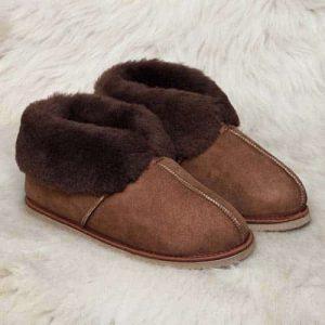 Pantoffels wol- bruin - heren