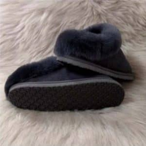 Pantoffels wol - grijs - laag model